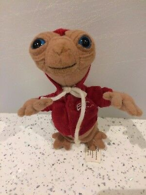 Vintage E.T Soft Plush Toy With Hoodie Jacket Universal Studios