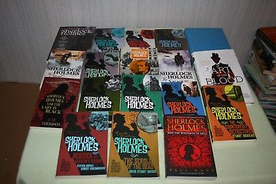 SHERLOCK HOLMES Lot of 18 books 3 hard covers and 15 paperbacks