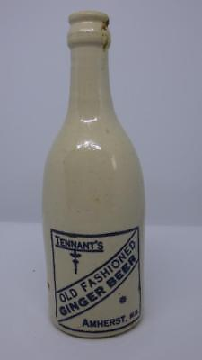 Antique Tennant's Old Fashioned Ginger Beer Bottle Amherst NS Nova Scotia