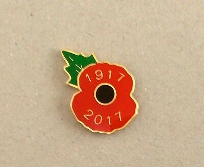 OFFICIAL ROYAL BRITISH LEGION 2017 POPPY PIN BADGE (British Legion Collector)