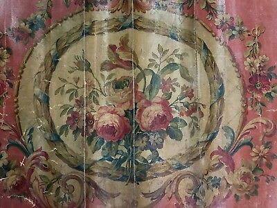 1800's French Oil Painting on Fabric (authentic/rare)