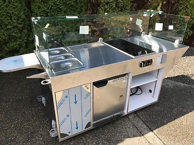 NEW Hillphoenix Mobile Front Cooking Station, Serving Cart, Catering, Concession