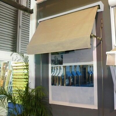 Retractable fixed arm outdoor exterior window awning blind 1.8x2.1m in Beige