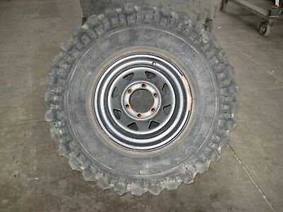 "Set Of 4 Sunraysia 15 X 8 Rims With Worn 35"" Simex Tyres Suit Patrol Or Cruiser"