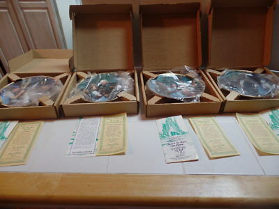 WIZARD of OZ Commemorative 1989 COMPLETE PLATES SET OF 8 (23K GOLD) 50TH