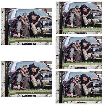 5x COME WHAT MAY CONCRETE WAVE 2 SHANE & OTIS Walking Dead Card Trader Digital