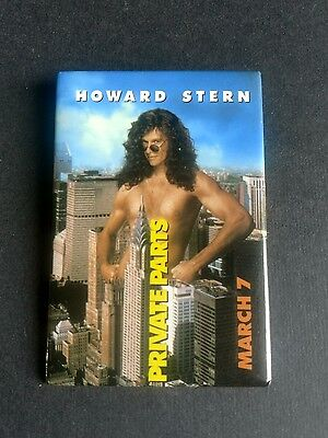 Vintage Howard Stern Private Parts Movie Promo Pin Back Button