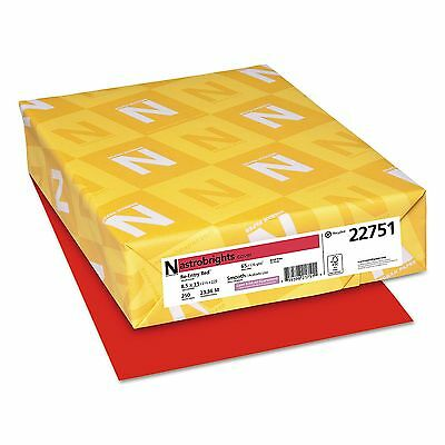 ASTROBRIGHTS 22751 65 Lb CARD STOCK Paper Re-Entry RED LETTER Size 250 Sheets