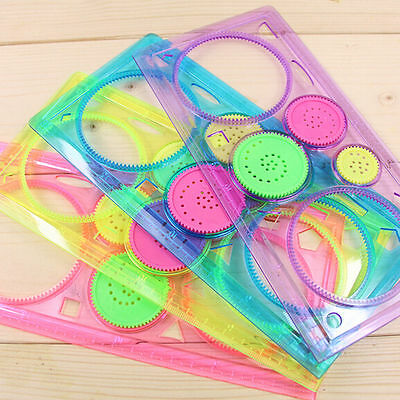 Spirograph Geometric Ruler Drafting Tools Stationery Drawing Toy Set Student New
