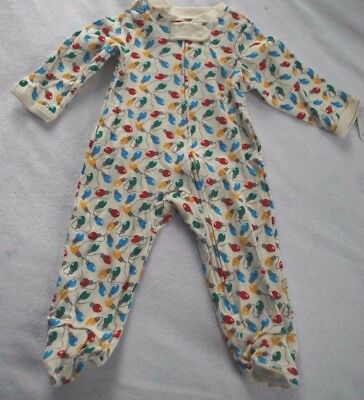 NWT 0-3 Months CHRISTMAS Sleeper Long Sleeve Outfit Holiday Lights Boy Gril