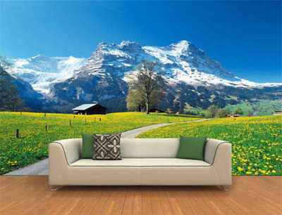Spring Snow Mountain Full Wall Mural Photo Wallpaper Printing 3D Decor Kids Home