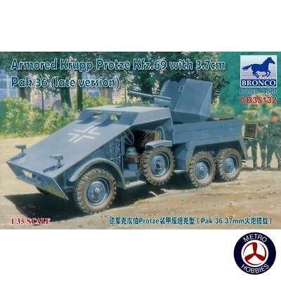 Bronco 1/35 Armored Krupp Protze KFZ.69 with 3.7cm Pak 36 Late Version CB35132 B