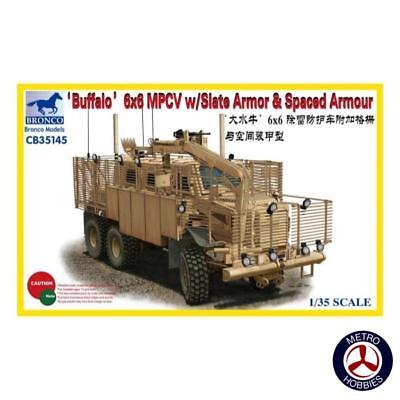 Bronco 1/35 Buffalo 6x6 MPCV with Slat Armour & Spaced Armour CB35145 Brand New
