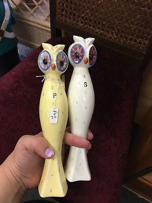 vintage Napco Very Tall Owl Salt And Pepper Shakers