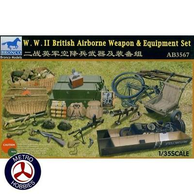 Bronco 1/35 WWII British Weapon and Equipment Set AB3567 Brand New