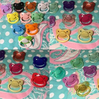 Adult  Nuke 6 Silicone Pacifier / Dummy in 24 COLOR OPTIONS!!!
