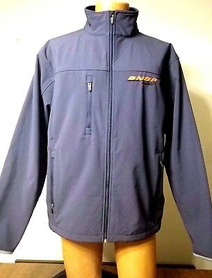Tri-Mountain Burlington/Santa Fe BNSF Railway RR Soft-Shell Jacket (L) Navy Blue
