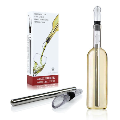 Wine Chiller Turata Wine Bottle Cooler Stick 3-in-1 Stainless Steel Freezer with