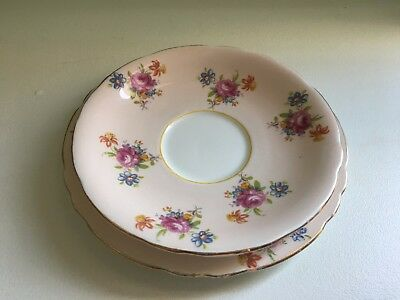 Vintage Aynsley England Bone China Plate & Saucer Set