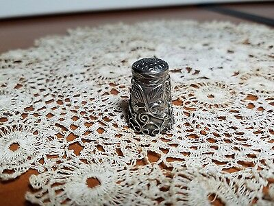 Vintage Mexico Sterling Thimble, Ornate Design