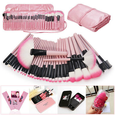 7 8 12 32 pcs Makeup Brush Set Soft Cosmetic FacePowder Eyebrow Shadow Bag Case