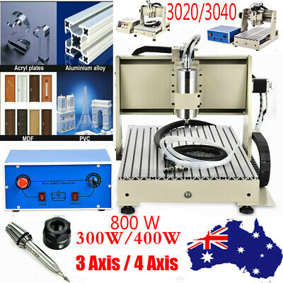 3Aix 4 Axis Cnc Router 3D Engraver Engraving Milling Drilling Machine 3020 3040