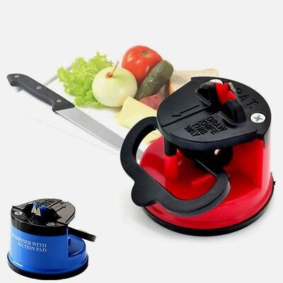 Suction Knife Sharpener Secure Pad Grinder Scissors Sharpening Tool Colourful TO