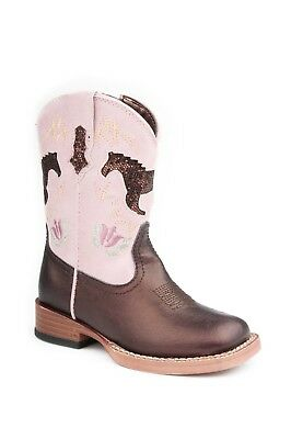 ROPER - Toddlers - Metallic with Glitter Horse - Brown/Lavender - 17901069 - NEW