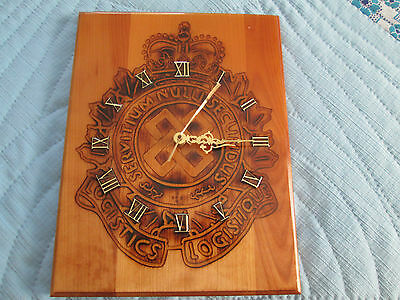 Canadian Armed Forces Logistics Service Corps Hand Carved Wall Clock