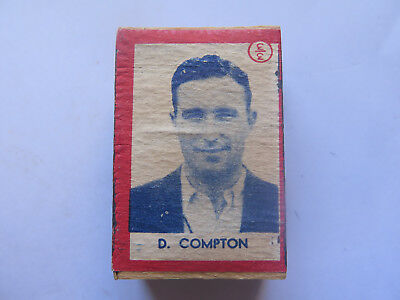 DENIS COMPTON on YACHT BOX of SAFETY MATCHES UNUSED CONDITION AUSTRALIAN c1950