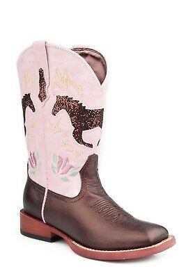 ROPER - Kid's Metallic with Glitter Horse - Brown/Lavender - ( 18901069) - New