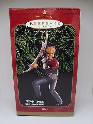 STAR TREK Collectible Hallmark Ornament. WORF 1999 AWESOME!!