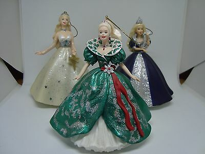 BARBIE Collectible Hallmark Ornaments.Set of 3! HOLIDAY BARBIES. AWESOME!!