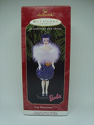 BARBIE Collectible Hallmark Ornament. GAY PARISIENNE! 1999 AWESOME!!