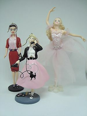 BARBIE Collectible Hallmark Ornaments.Set of 3! VARIOUS BARBIES. AWESOME!!