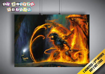 Poster Balrog Gandalf Battle 2 Lord of the Rings Lords of Rings