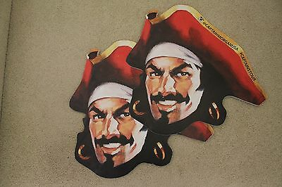 Captain Morgan Pirate Head Face 2 sided Foam Sign SET OF 2 SIGNS USED