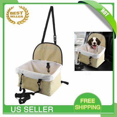 Dog Car Seat Cover Protector Travel Chair Safety Basket Small Pet Up to 15lbs VP