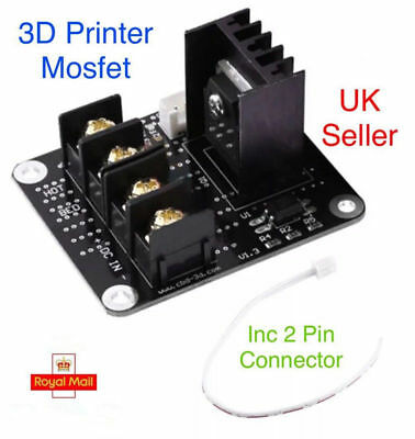 3D Printer hotbed Mosfet expansion module inc 2pin lead Anet A8 A6 A2 Compatible