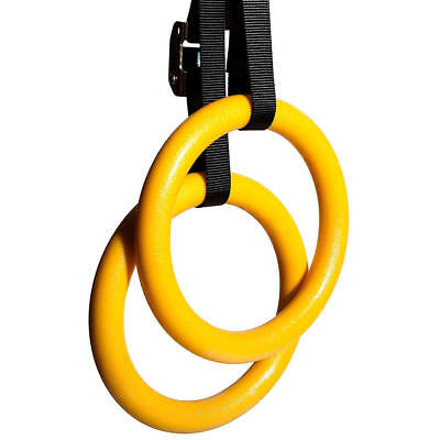 Gymnastic Gym Rings Adjustable Olympic Muscle Strength Training Straps