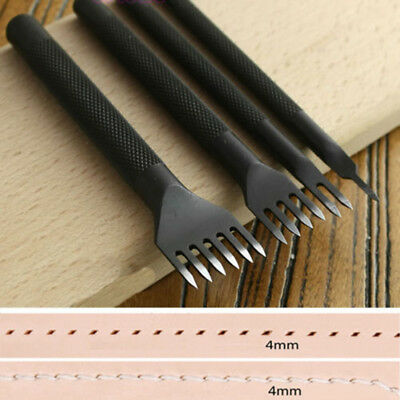 Leather Craft Tools Hole Chisel Graving Stitching Punch Tool Set 4mm/0.16''Steel