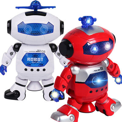 Smart Space Dance Robot Electronic Walking Toys With Music Light Gift For Kids
