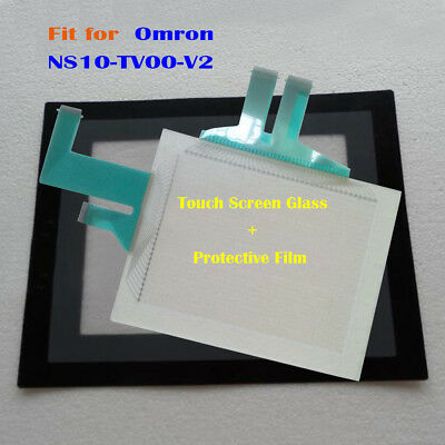 New for Omron NS10-TV00-V2, NS10TV00V2 Touch Panel Glass with Protective Film