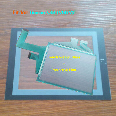 New for Omron NS8-TV00-V2, NS8TV00V2 Touch Panel Glass with Protective Film
