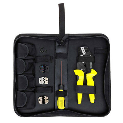 4 Dies Professional Ratchet Terminal Crimper Wire Crimping Pliers Tool Kit New