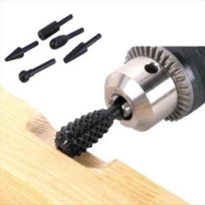 5pcs Hss Woodworking Rasp Chisel Shaped Rotating Embossed Grinding Power Tool BL