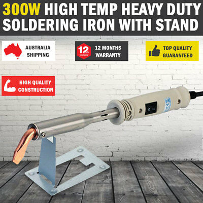 NEW 300W Heavy Duty Soldering Iron with STAND Chisel Point 240V 300 Watt