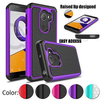 Hybrid Shockproof Ultra Armor Case Cover For Alcatel Revvl /A30 Plus Fierce 2017