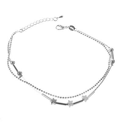 SS 1 PC Women Stella Della Chain Ankle Bracelet, Barefoot Sandal Foot Jewelry Be