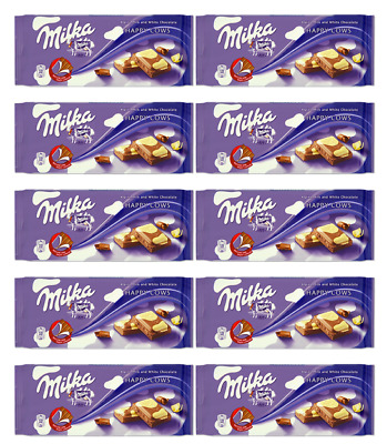 908186 10 x 100g BLOCKS OF MILKA'S ALPINE CHOCOLATE COW SPOTS LIMITED EDITION!
